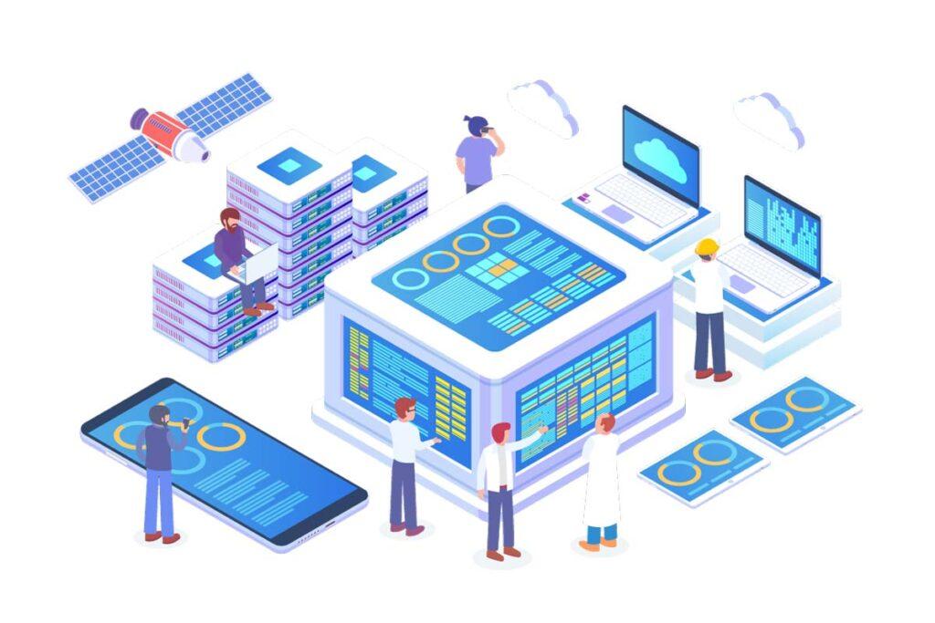 rappresentazione-di-ingegneri-che-lavorano-su-server-che-contengono-big-data